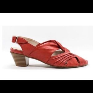 Canal Grande Red Leather Sandals